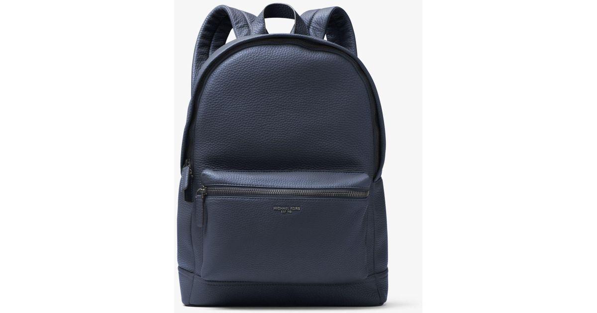 66963cdff809 Michael Kors Bryant Leather Backpack in Blue for Men - Lyst