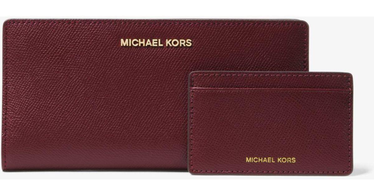 1bb95e32c13b78 Michael Kors Large Saffiano Leather Slim Wallet - The Best Wallet ...