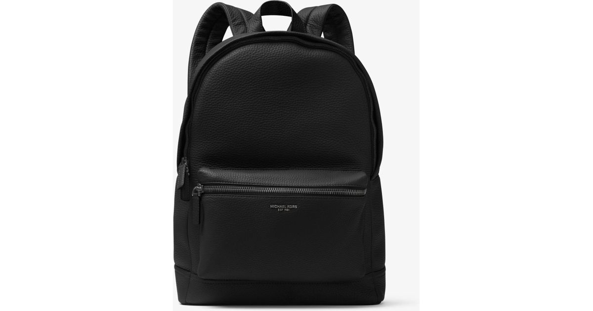 7a13ccd011b3f Lyst - Michael Kors Bryant Leather Backpack in Black for Men