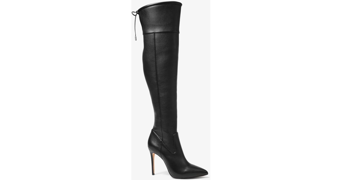 9f91d9c47b5 Lyst - MICHAEL Michael Kors Jamie Stretch Over-the-knee Stiletto Boot in  Black