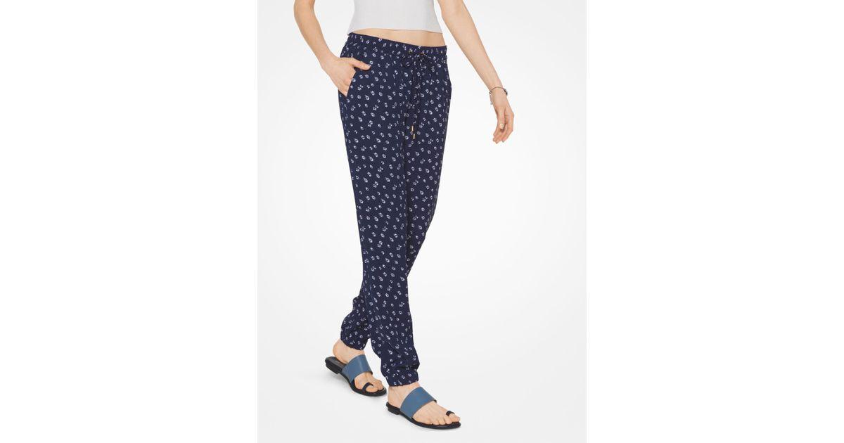 7e003b3d399855 Lyst - Michael Kors Sonya Leather Sandal in Blue