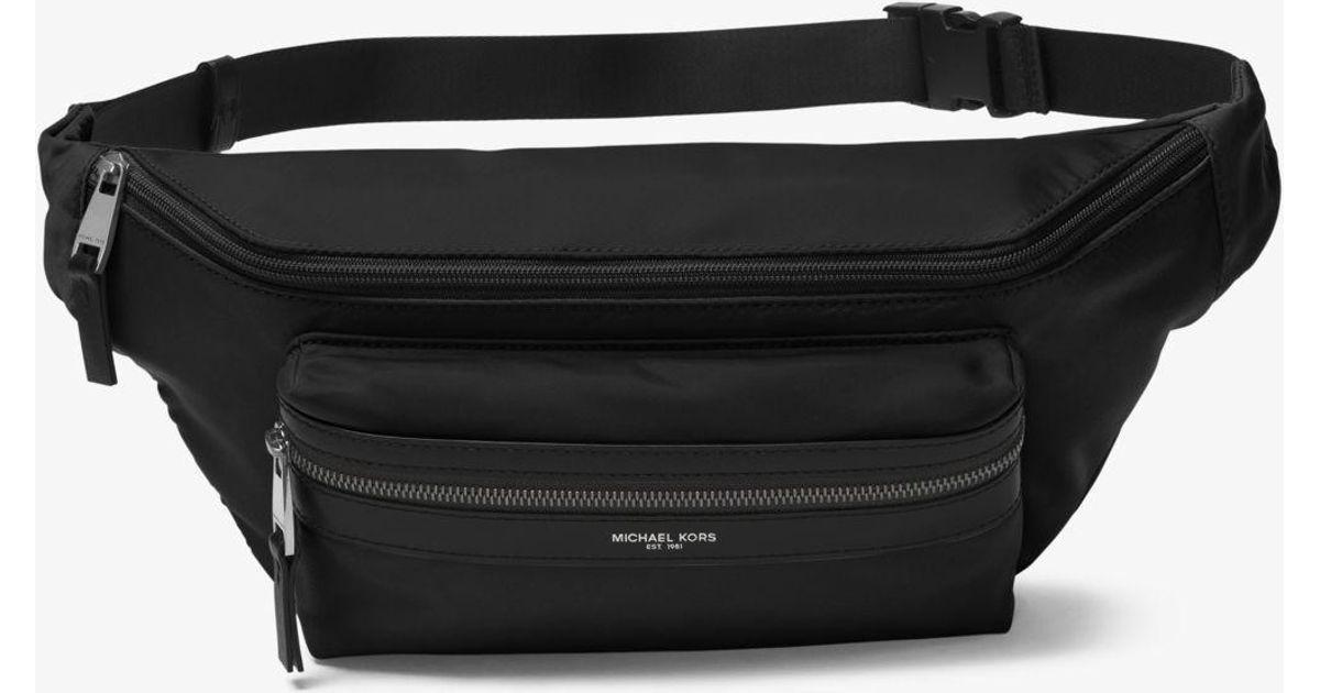 b8a940b9be7 ... Lyst - Michael Kors Kent Nylon Convertible Belt Bag in Black ...