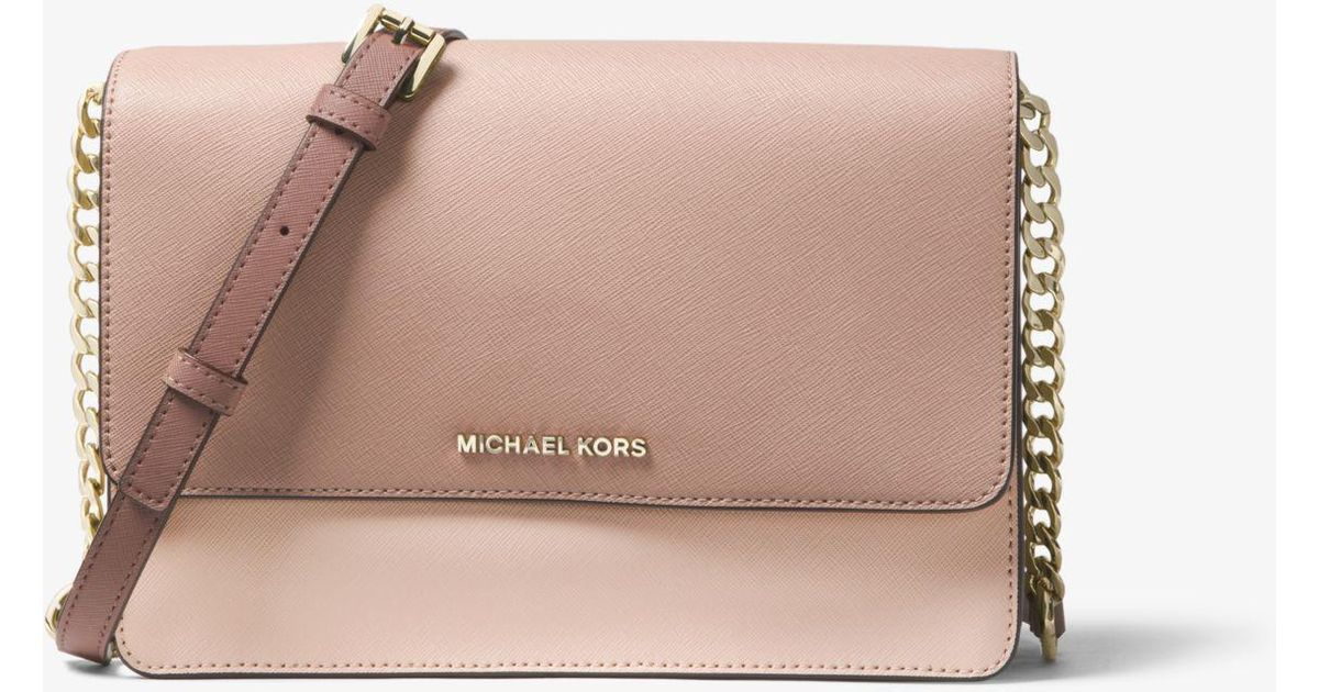 a43cae5a5264c0 Michael Kors Daniela Large Color-block Saffiano Leather Crossbody - Lyst
