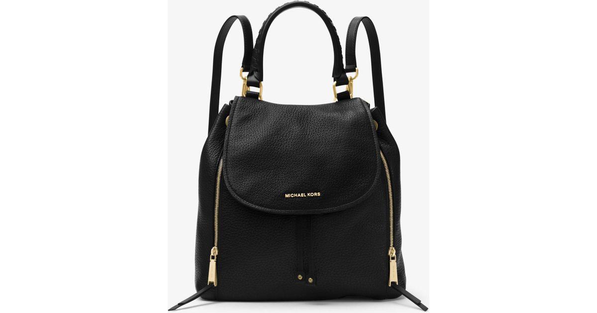 9dd7fef7cb22 Michael Kors Viv Large Leather Backpack in Black - Lyst