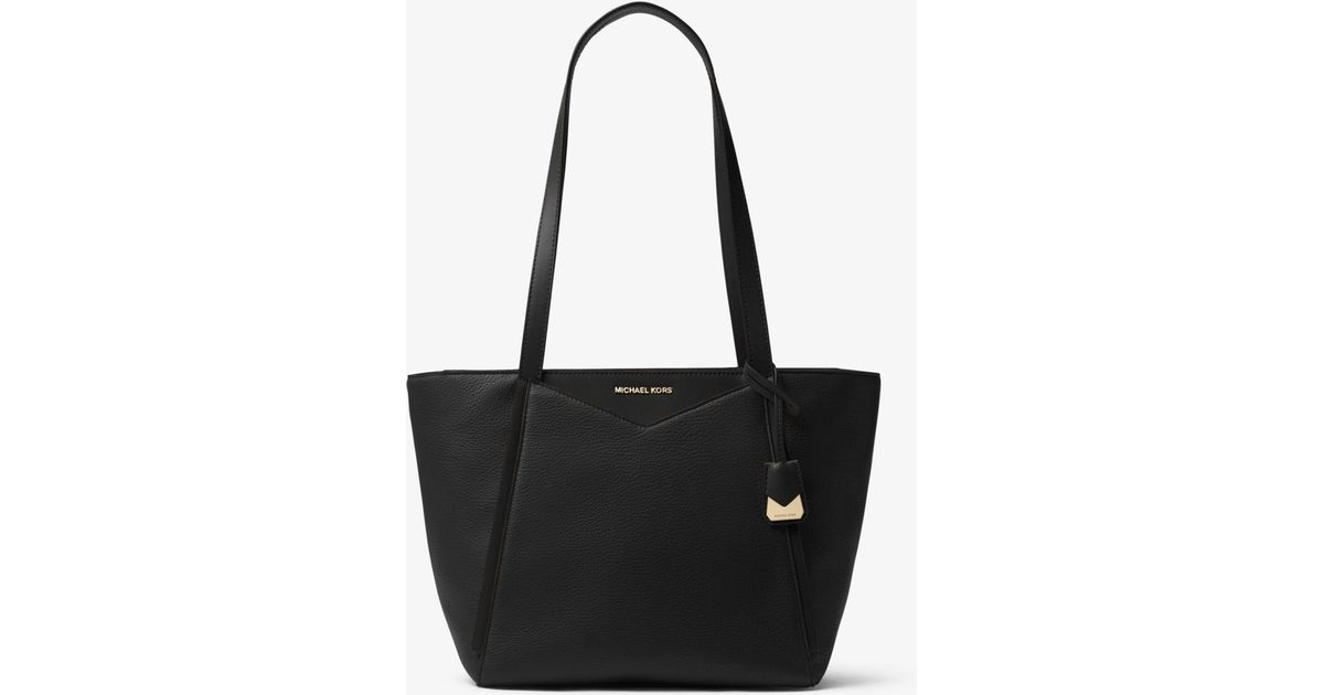 106fd9cb2808 Lyst - Michael Kors Whitney Small Pebbled Leather Tote in Black