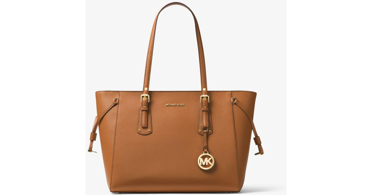 Michael Kors - Brown Bolso tote Voyager mediano de piel - Lyst d3c41f94b37