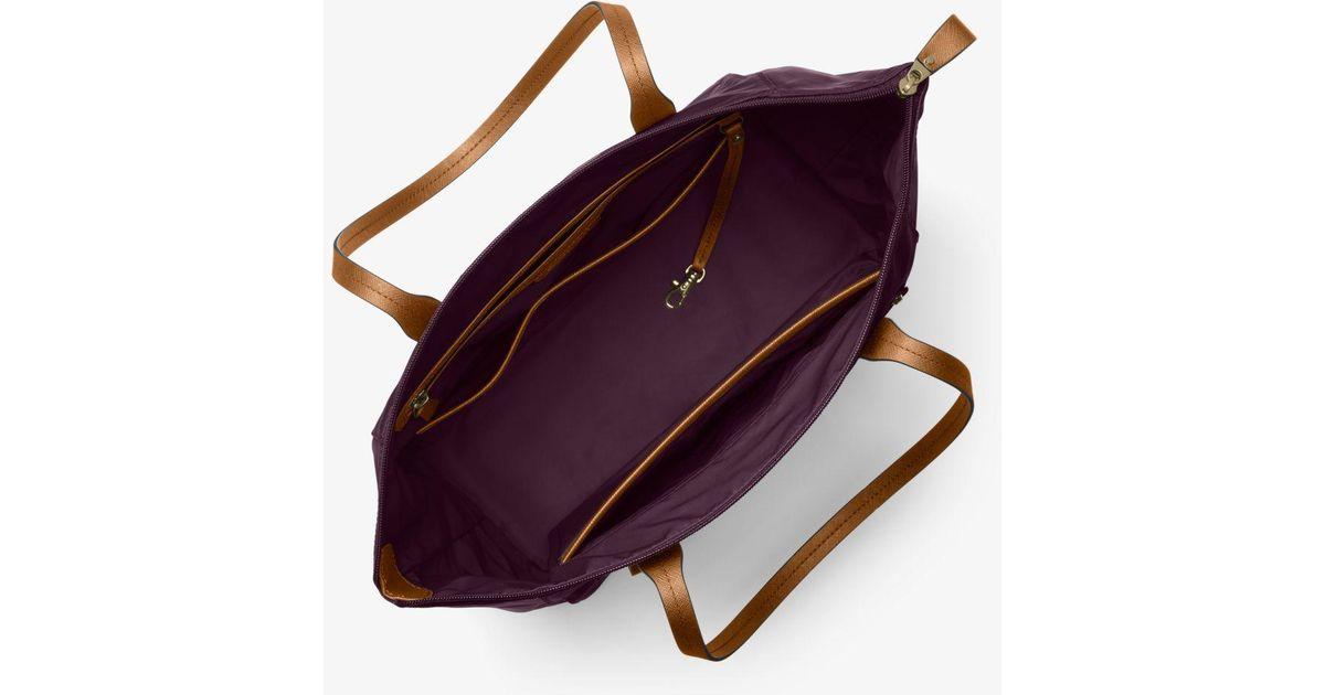 a59d08f100e7 Lyst - Michael Kors Kelsey Large Nylon Tote in Purple