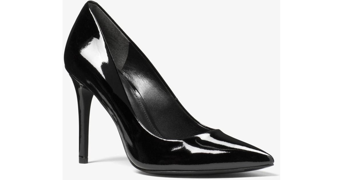 90a0c21a00a5 Lyst - MICHAEL Michael Kors Claire Patent-leather Pump in Black