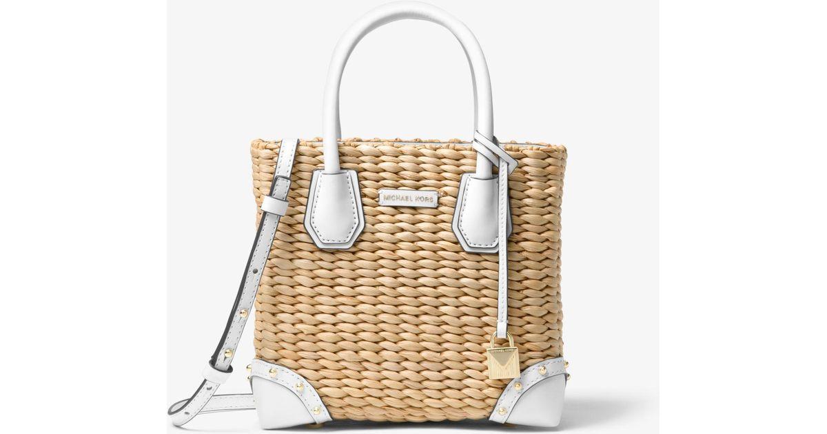 2ec90854106b MICHAEL Michael Kors Malibu Woven Straw Crossbody Bag - Lyst