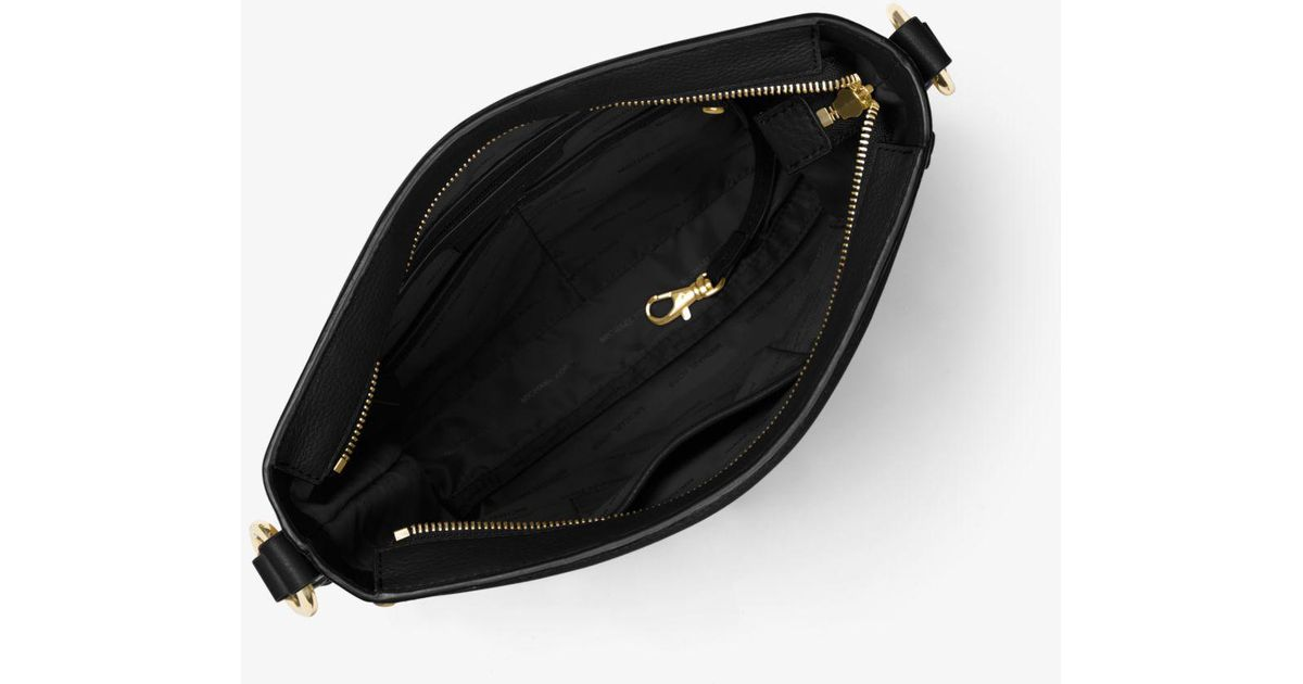 f981345eb7a72 Lyst - Michael Kors Moroccan Large Leather Messenger in Black