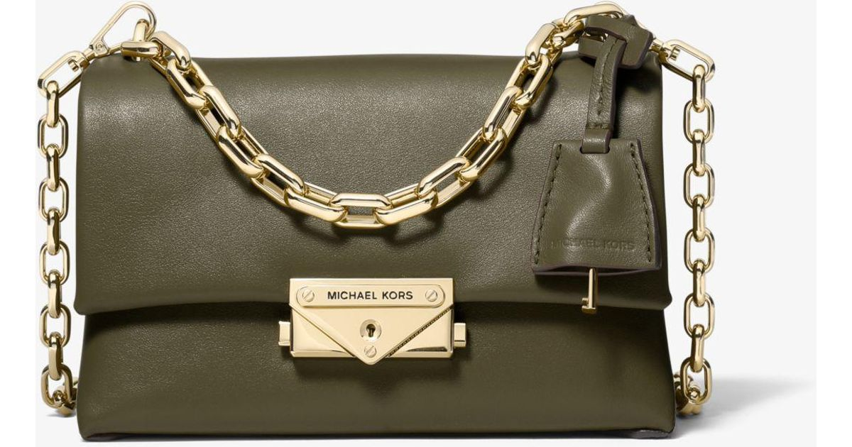 5e9d58b94 Michael Kors Cece Extra-small Leather Crossbody Bag in Green - Lyst