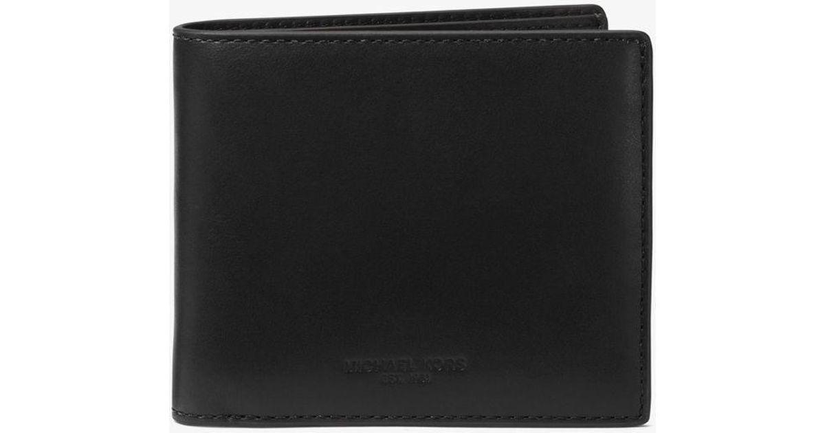 0ce88c3e288530 Michael Kors Odin Leather Billfold Wallet in Black for Men - Lyst