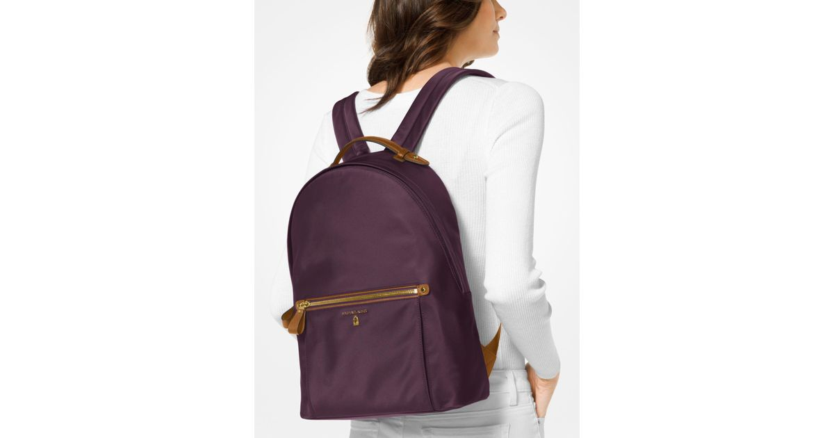 3ab7a5f36e894e Michael Kors Kelsey Nylon Backpack in Purple - Lyst