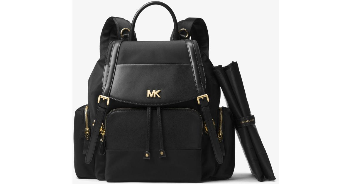 0ae59173f9ca Michael Kors Mott Large Nylon Diaper Backpack in Black - Lyst