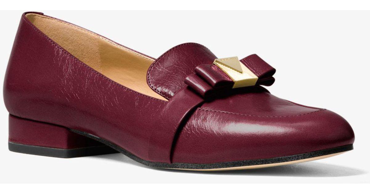 d508dc91897 Lyst - Michael Kors Caroline Crinkled Leather Loafer