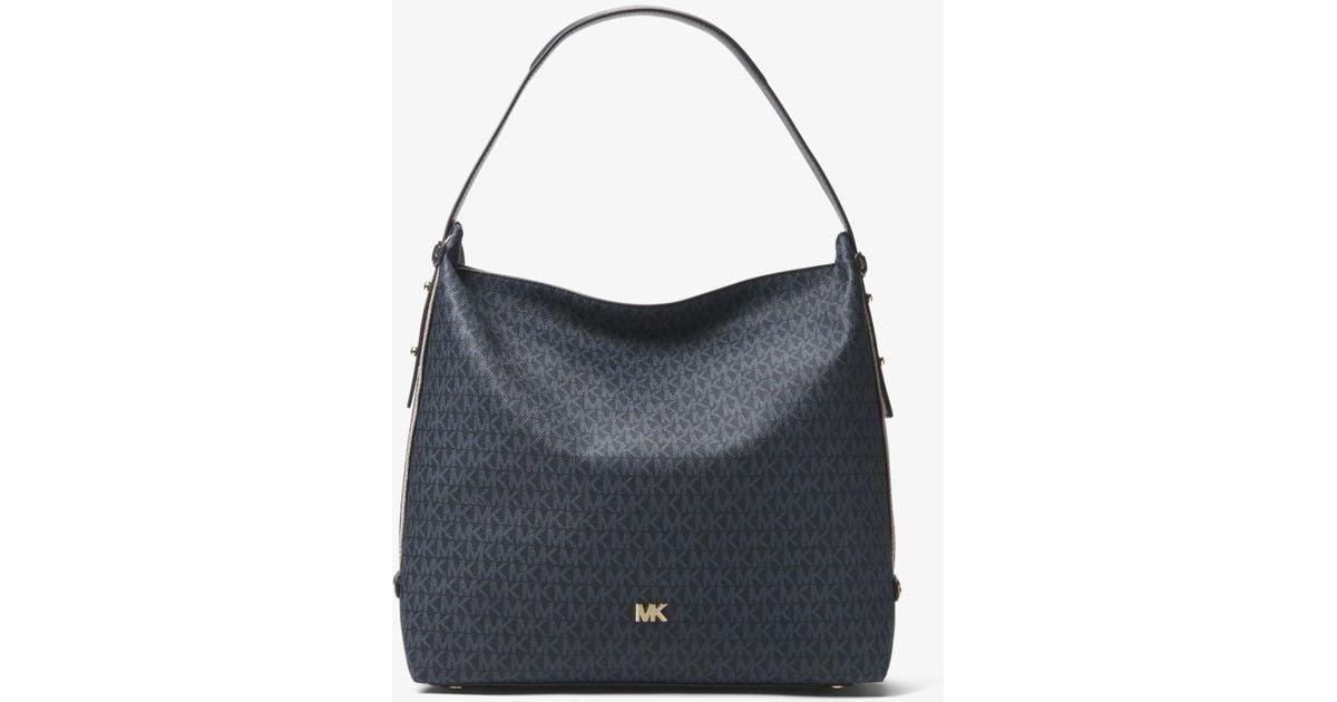 aae80f32adf2 Lyst - Michael Kors Griffin Large Logo Shoulder Bag
