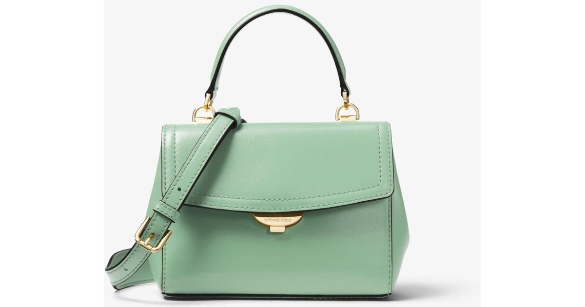 091ef035384a Lyst - Michael Kors Ava Extra-small Leather Crossbody in Green