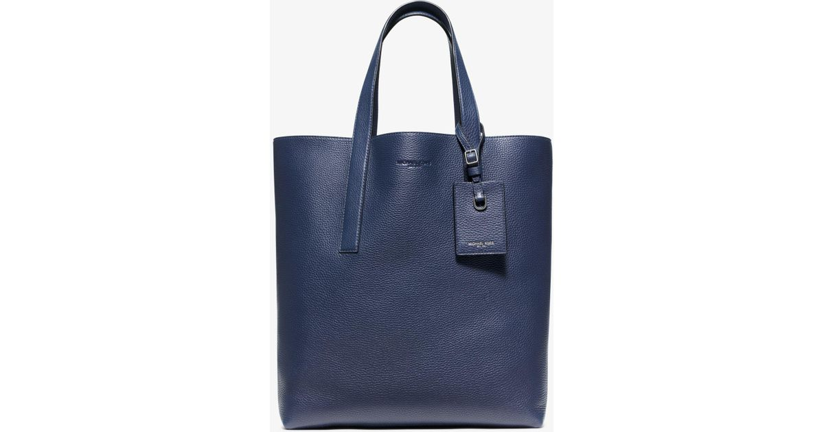 c5e2b44e4758 Lyst - Michael Kors Reversible Mason Leather Tote in Blue for Men