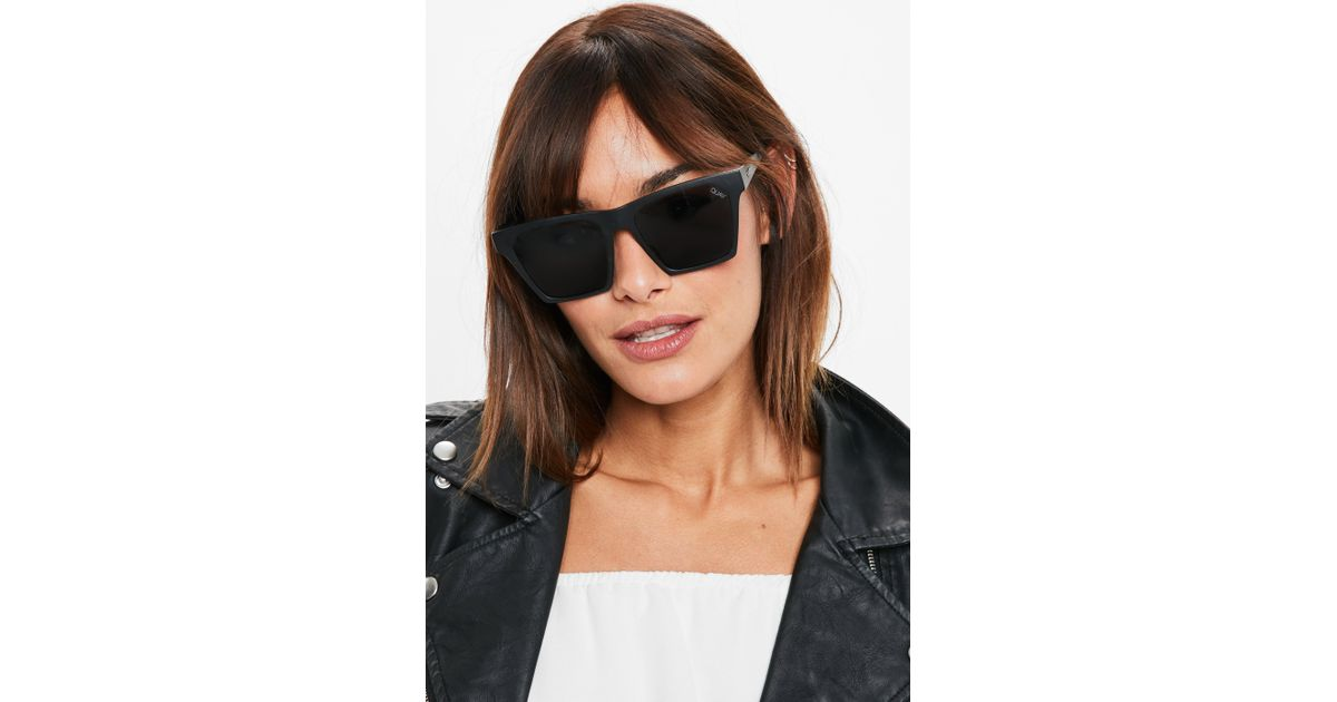 e7ef94434fc6b Missguided Quay Australia X Matte Black smoke Alright Sunglasses in Black -  Lyst