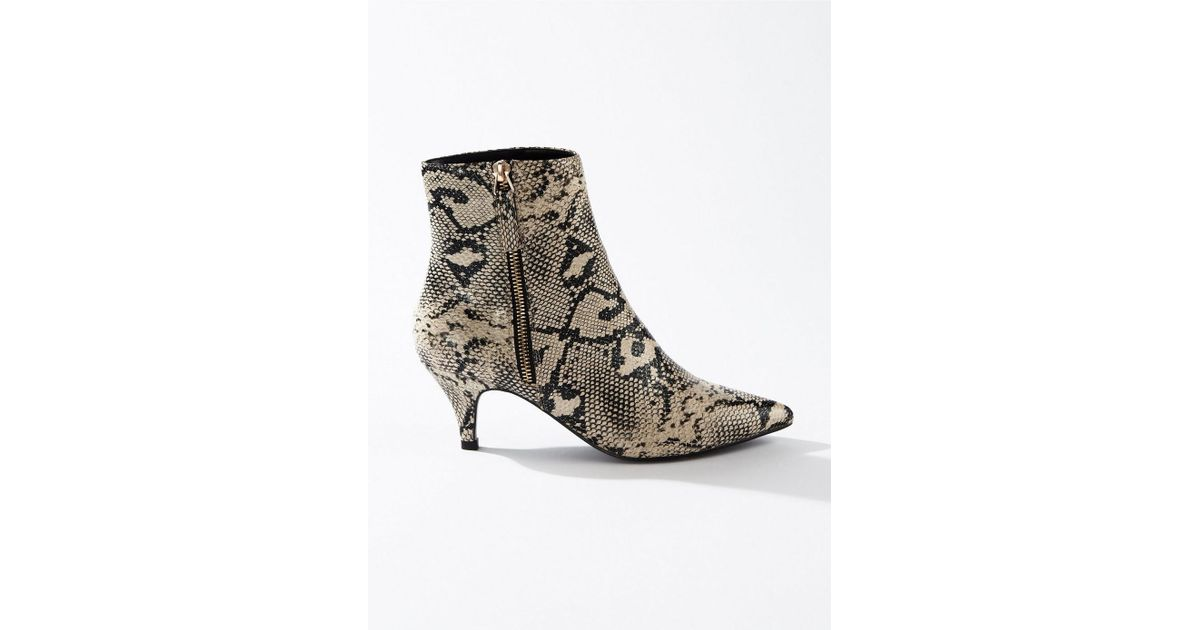 405ca716768 Lyst - Miss Selfridge Brandy Grey Kitten Heel Boots in Gray