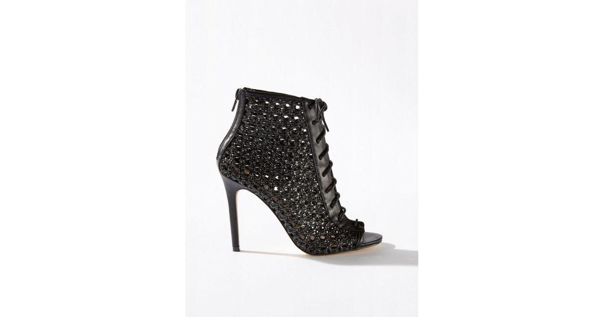 2491e38d79f3 Lyst - Miss Selfridge Hilary Woven Stiletto Heel Sandals in Black