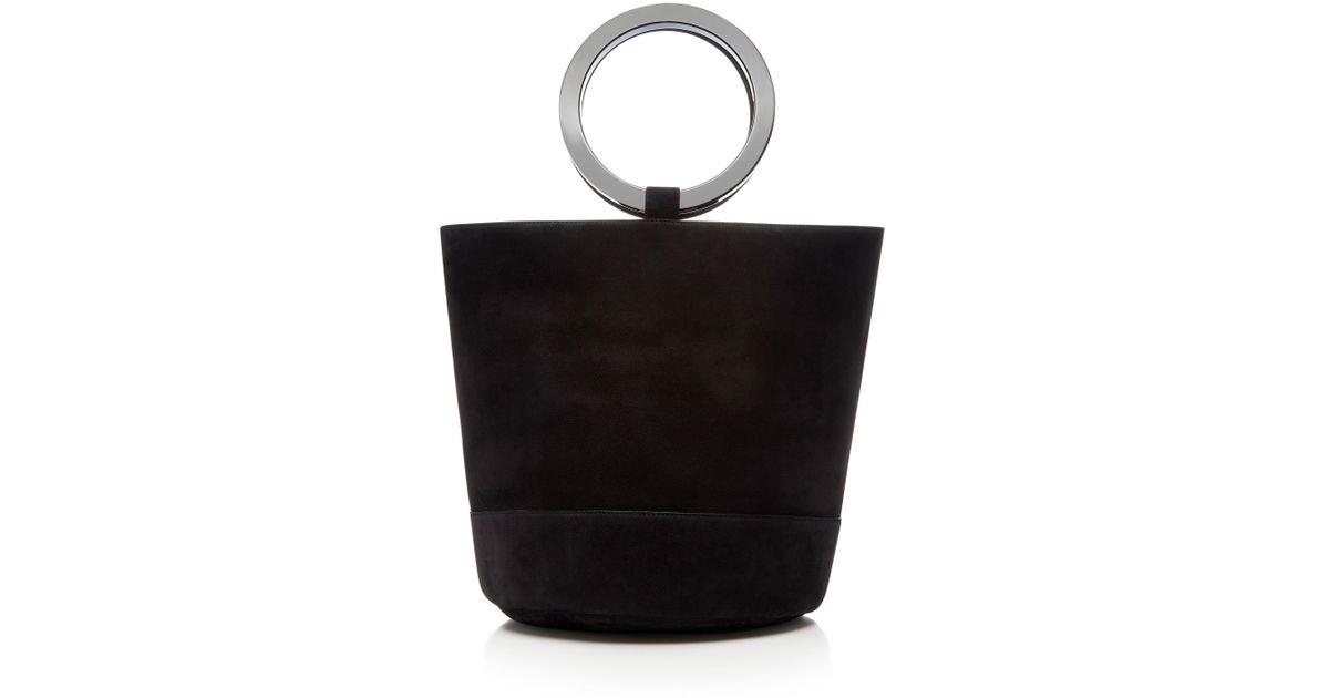 1421650ae1da Lyst - Simon Miller Bonsai 30cm Nubuck Bucket Bag in Black