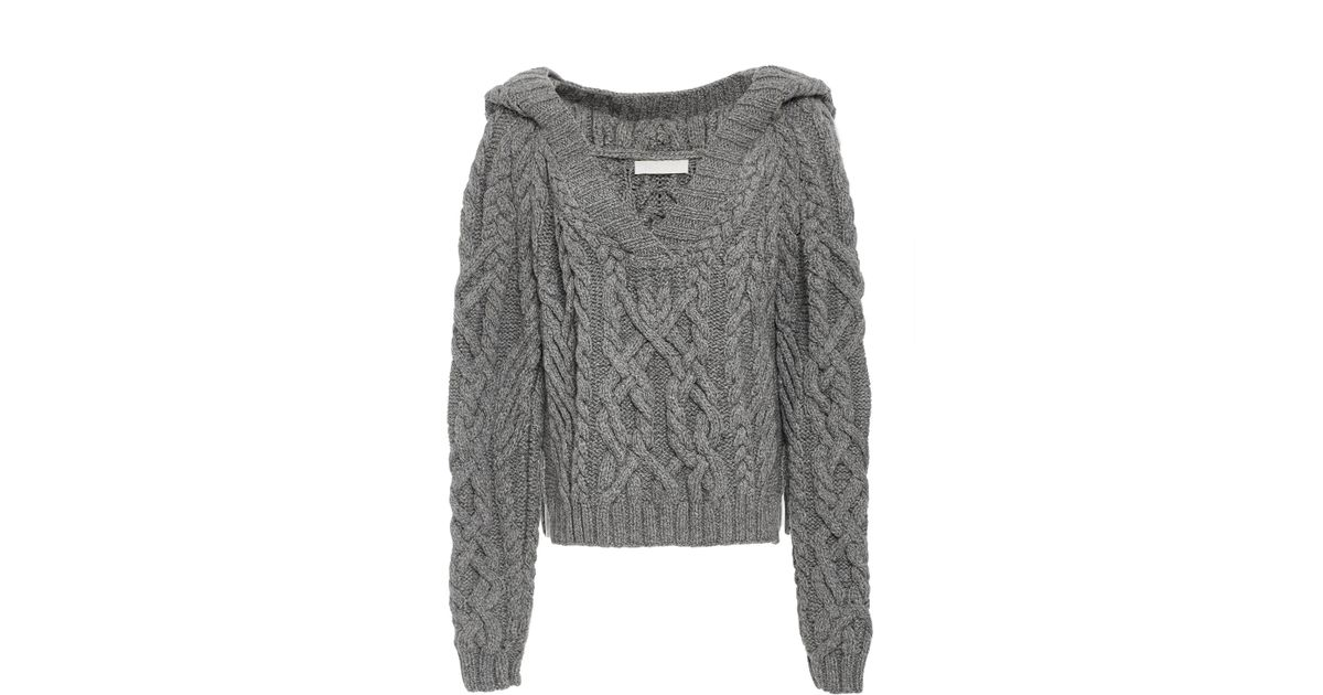 Cable Nellie Blanc Knit Xctqhhwr0s Partow Sweater rqrf5B