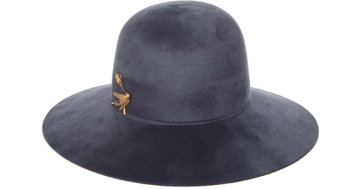 Lyst - Agnona Beaver Hat in Blue 9696a6bf80f