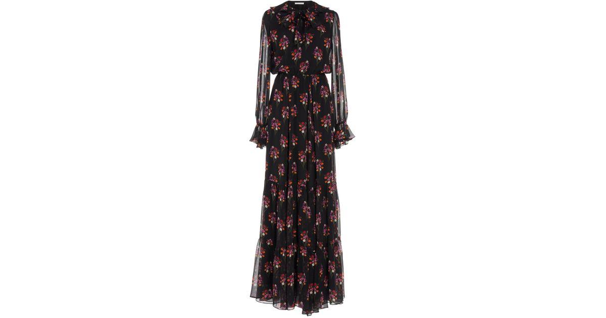 Anna Georgette Tiered Maxi Dress Borgo De Nor v1vQVVe84