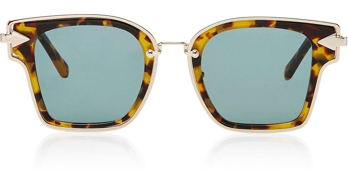 Rebellion Square-Frame Acetate and Metal SunglassesKaren Walker 4DKsLR7