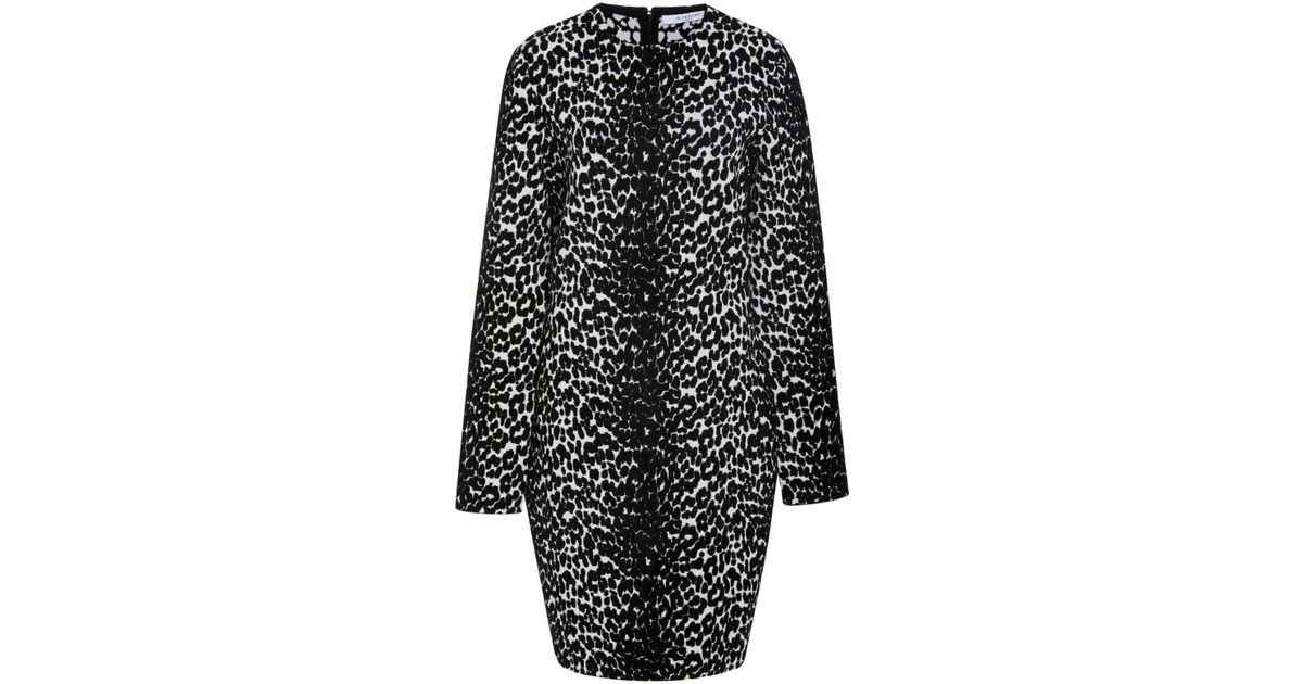 Lyst - Givenchy Leopard-print Stretch-knit Mini Dress in Black 83357b141