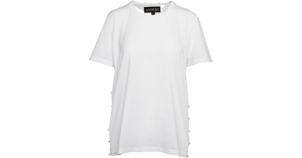 553779d9b4ce6 ANOUKI White T-shirt With Transparent Back in White - Lyst