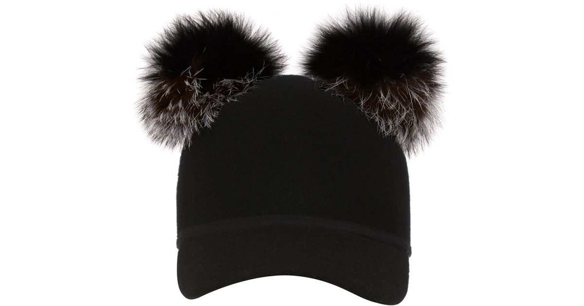 f38af4bbfb4 Lyst - Charlotte Simone Double Pom Sass Cap in Gray