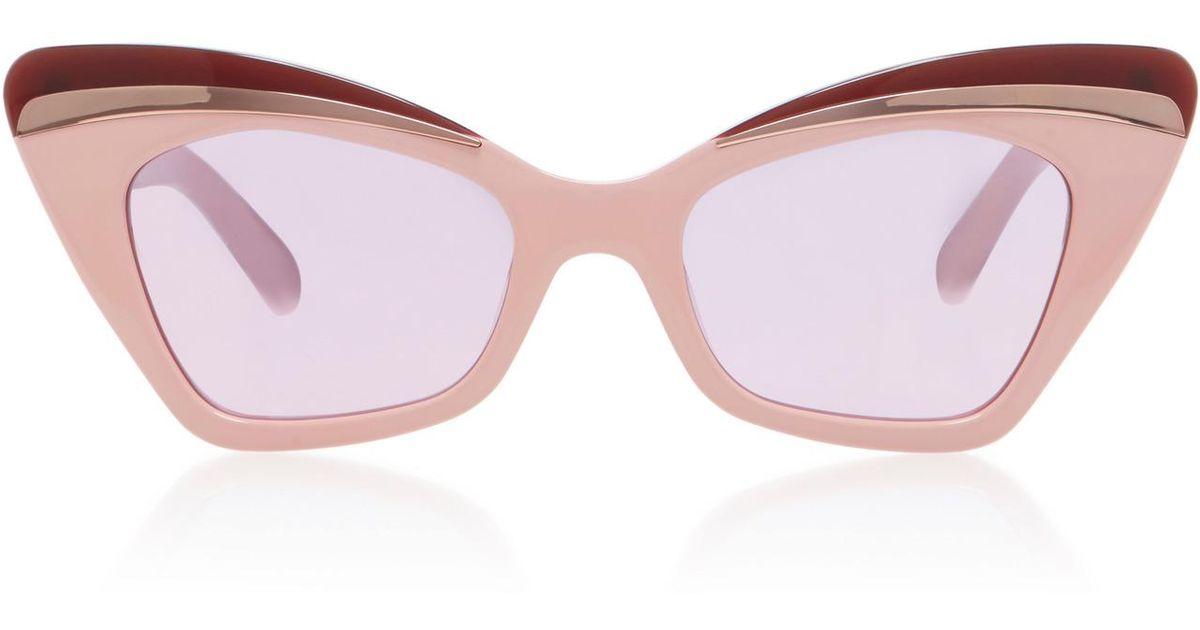 8920ee4f8ba Lyst - Karen Walker Babou Cat-eye Sunglasses in Pink