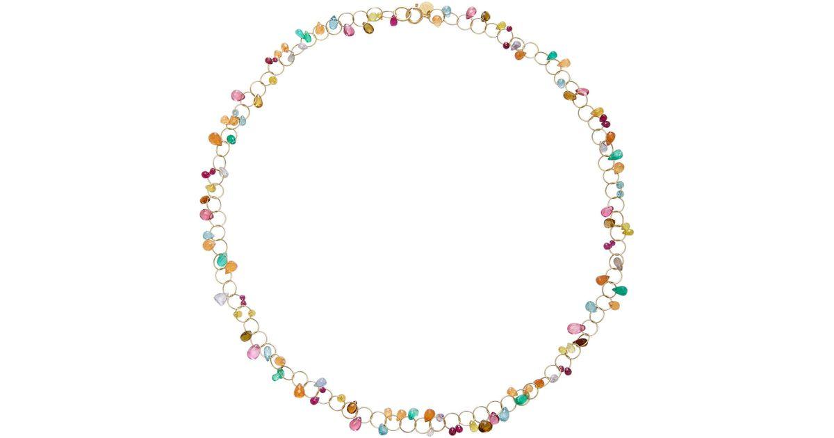 Circus Briolette 18K Gold Multi-Stone Necklace Mallary Marks 5gXpq
