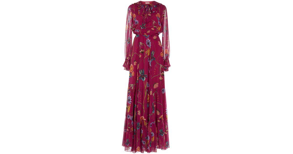 ef96972a0619 Borgo De Nor Anna Silk-georgette Tiered Maxi Dress - Lyst