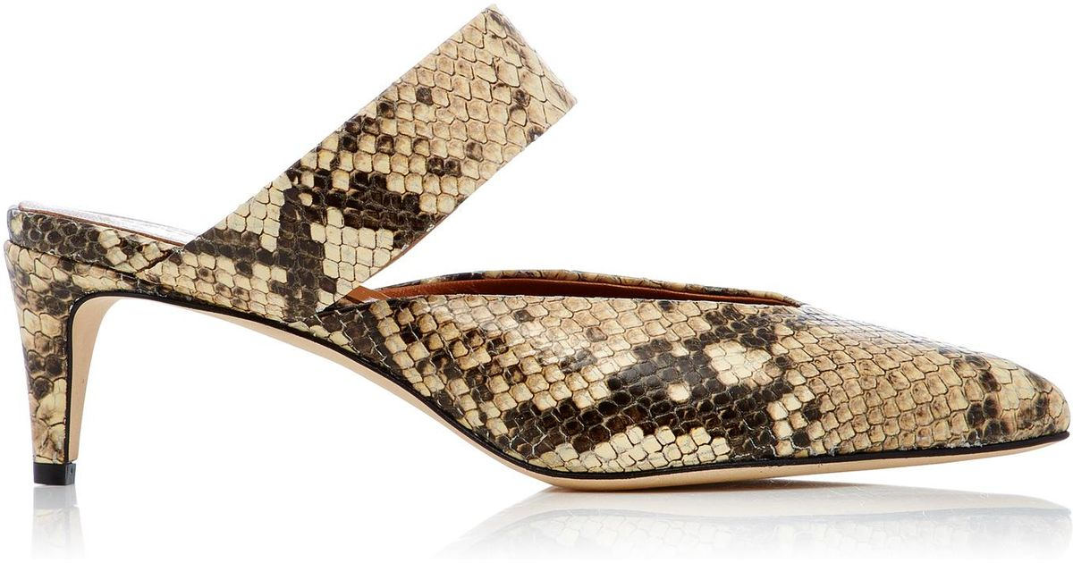 ATP Atelier Vaie Snake Effect-Leather Mules zJcn8ypY