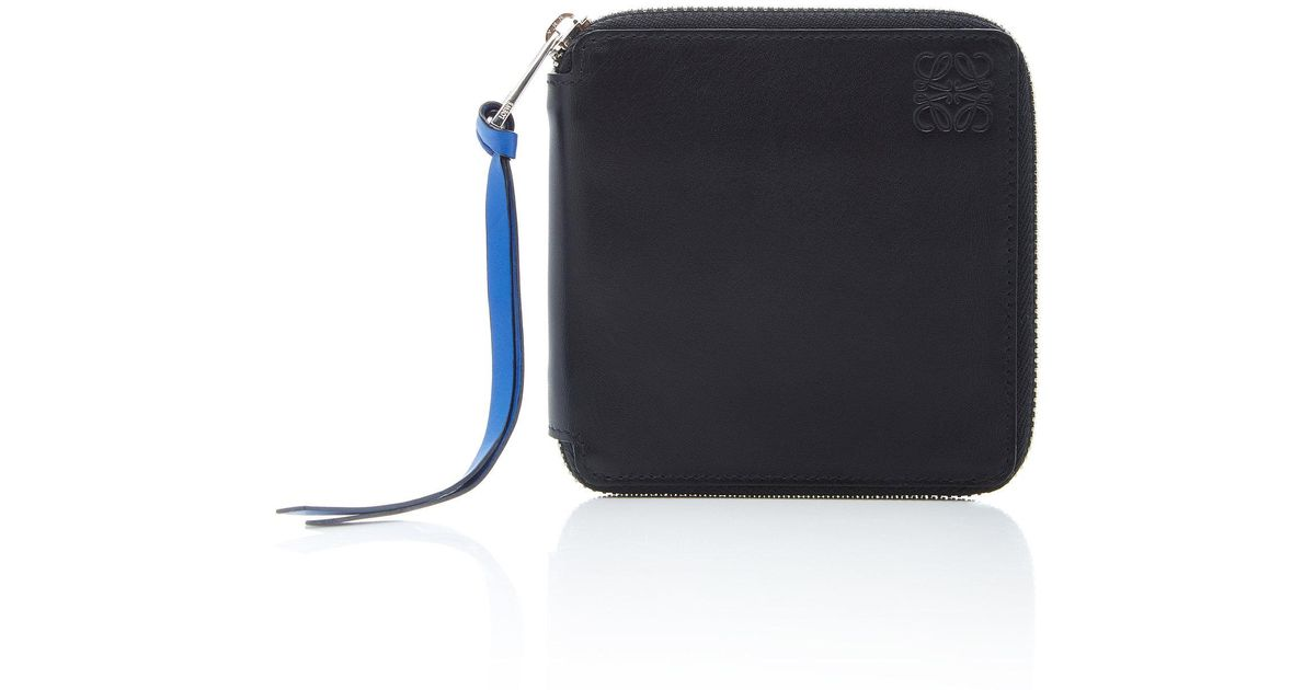 Square-Zip Rainbow Leather Wallet Loewe