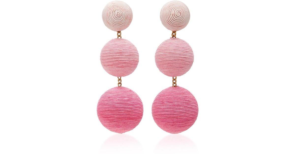 MO Exclusive Six Drop Lurex Earrings Rebecca de Ravenel Y7MrwF5a