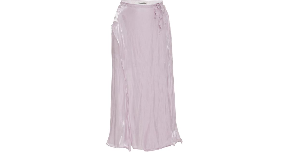 dabe186bace9da Ciao Lucia Carlotta Split Skirt in Pink - Lyst