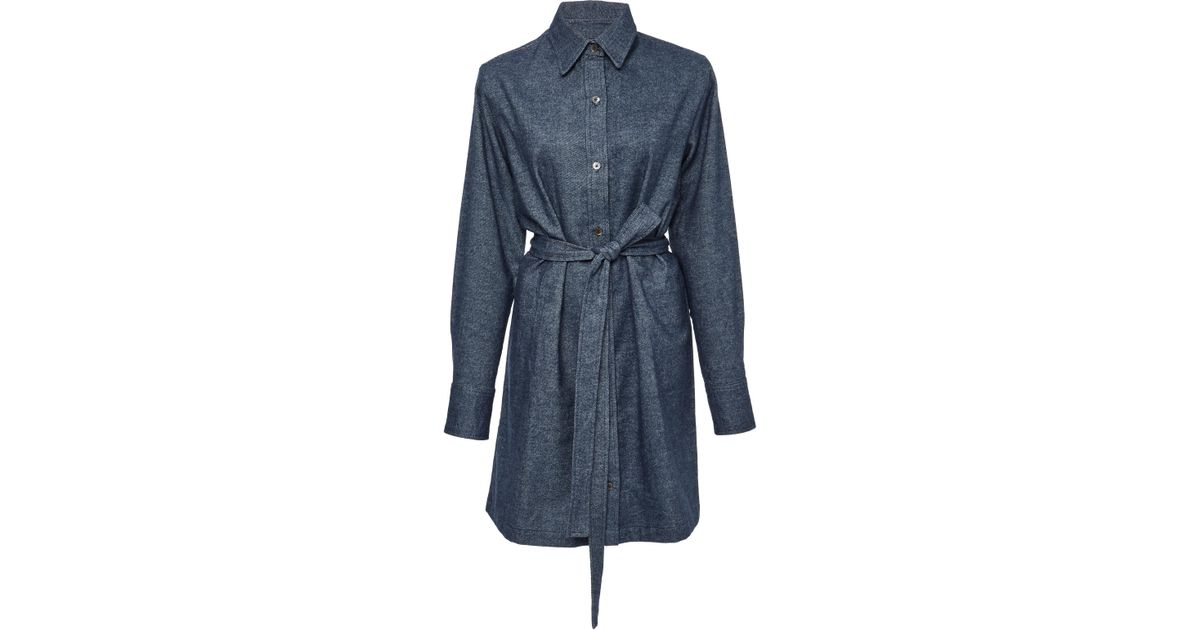 MO Exclusive Cotton Kay Denim Shirt Dress The Elder Statesman eM3Mua