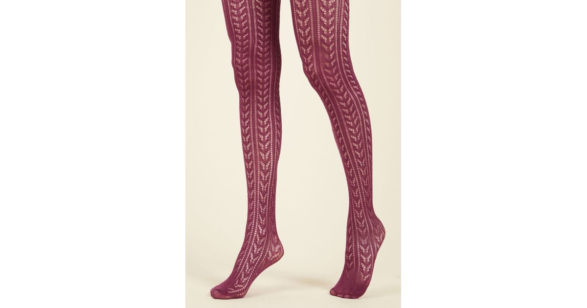 4f64f6fd230 Lyst - Tabbisocks Viewpoint Intl Corp Pointelle The Difference Tights in  Purple