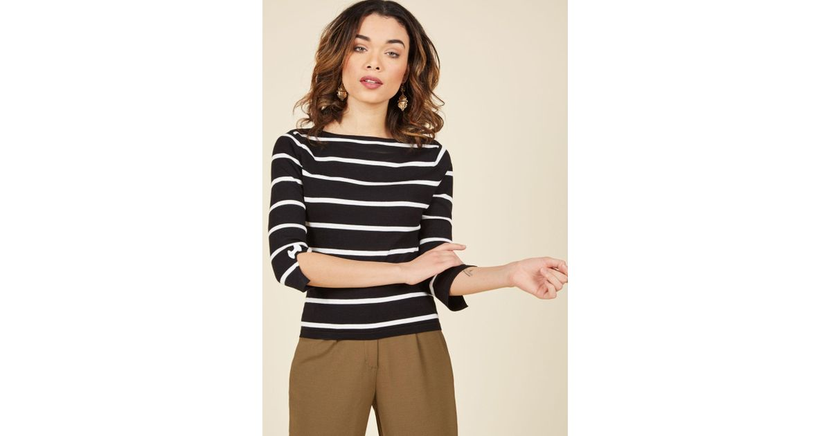 c19fc62f2fa33 Lyst - Banned Up To Parisienne Sweater In Striped Black in Black