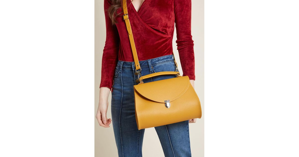 e54d4fd45ca6 Lyst - Cambridge Satchel Company Poppy Bag In Mustard - 11