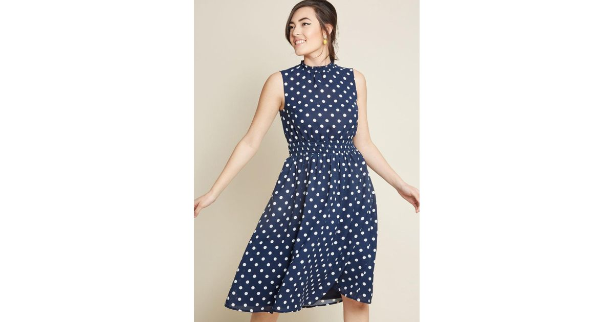 e12314cd9d8ca Lyst - ModCloth Savor The Occasion A-line Dress in Blue