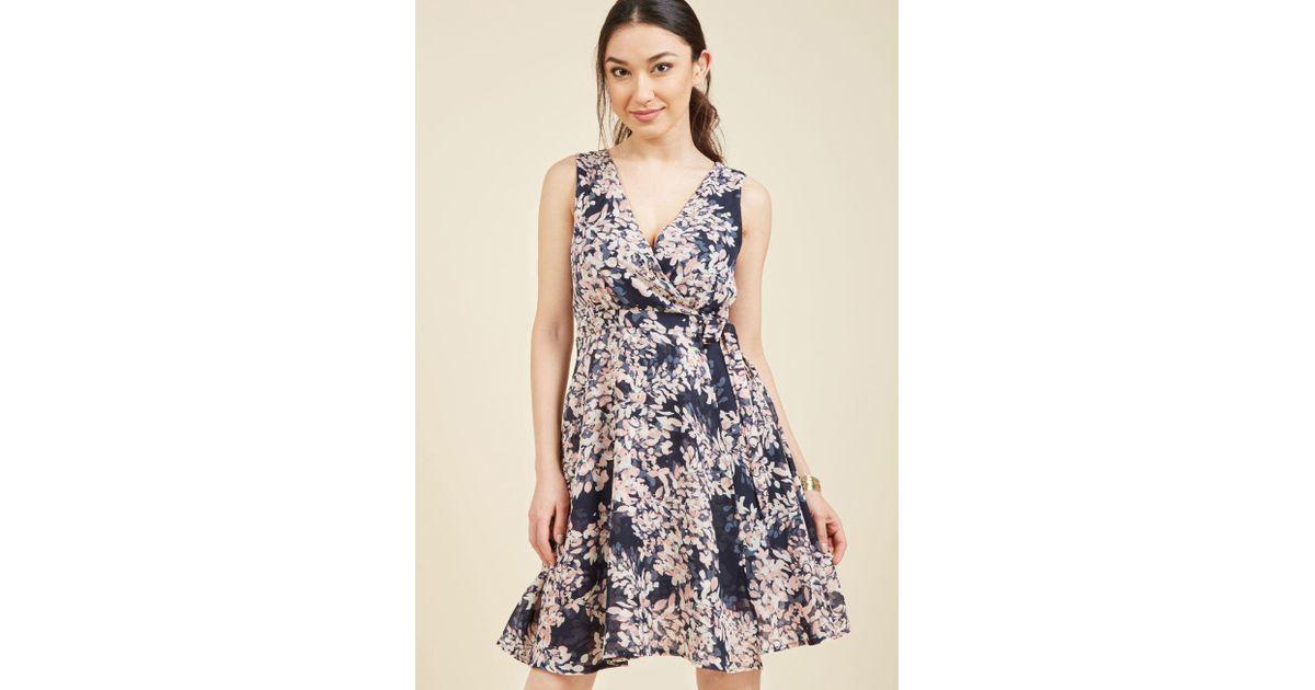 ecf775ac12 Lyst - Modcloth Sweetly Sway Wrap Dress in Blue