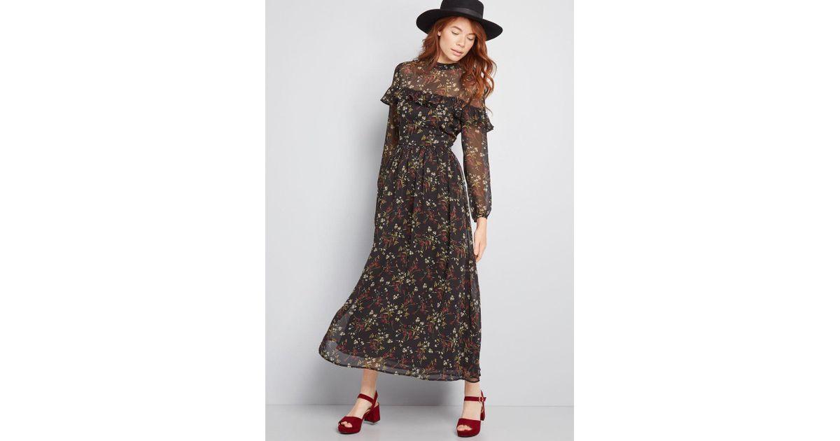 7a71a753bf8 Lyst - BB Dakota Sway For Days Floral Maxi Dress in Black