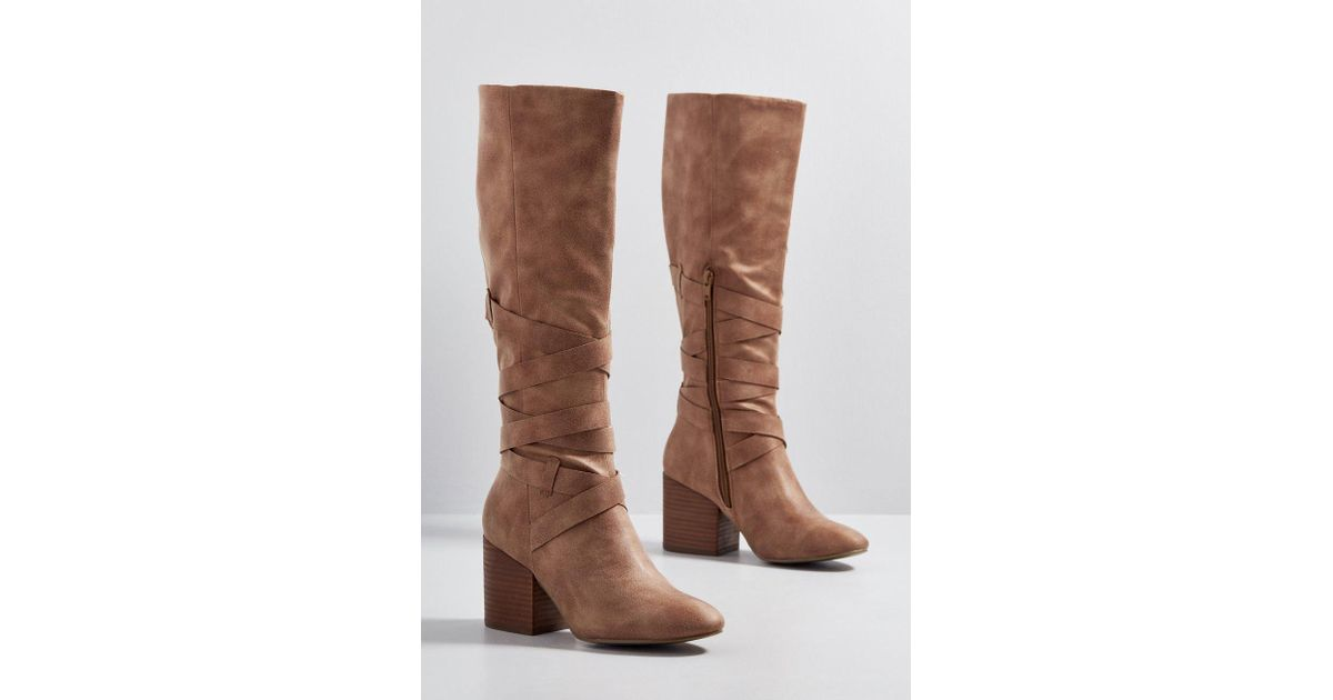 efa7a7484e1 Lyst - ModCloth Up For Straps Knee High Boot in Brown