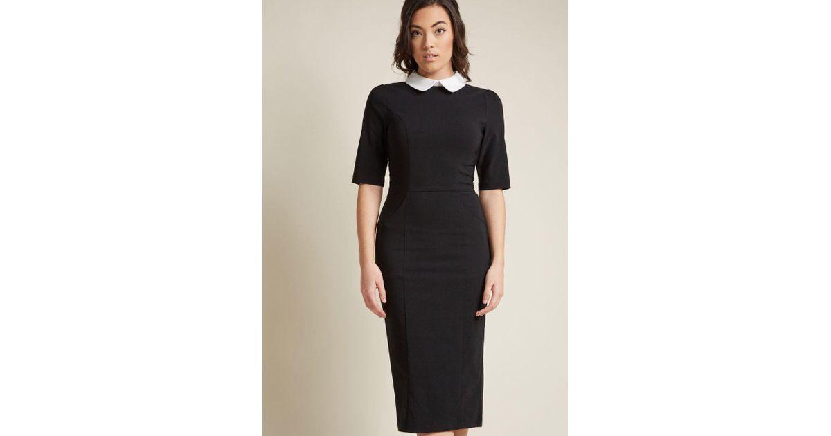 bdab4d1ac73 Collectif Make My Wednesday Sheath Dress in Black - Lyst
