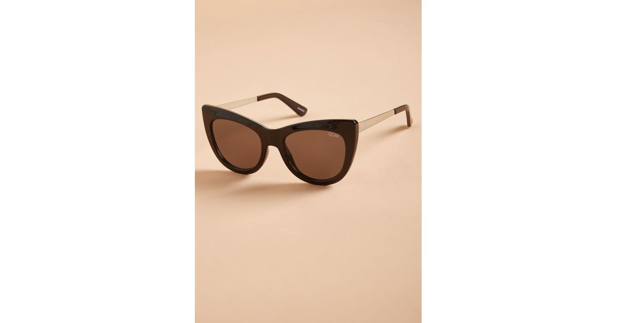c9a76d3dc19 Lyst - Quay Steal A Kiss Sunglasses By From Modcloth in Black